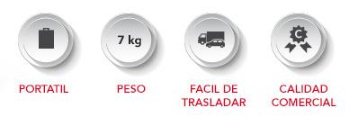 ICONOS-CONTRA-PESO Portátil, 7 kg de peso, fácil de trasladar, calidad comercial