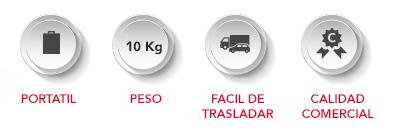 ICONOS-DEMOACERO Portátil, 10 kg de peso, fácil de trasladar, calidad comercial